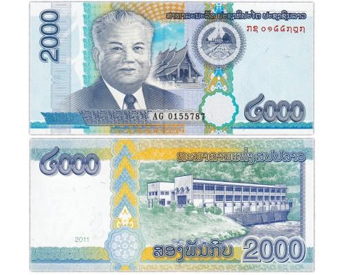 БЕЗ СКИДКИ Банкнота 2000 кип Лаос 2011 KR