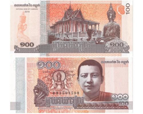 БЕЗ СКИДКИ Банкнота 100 риэлей Камбоджа 2014 KR