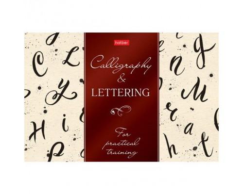 Тетрадь 48 листов Прописей для Каллиграфии и Леттеринга Буква за буквой