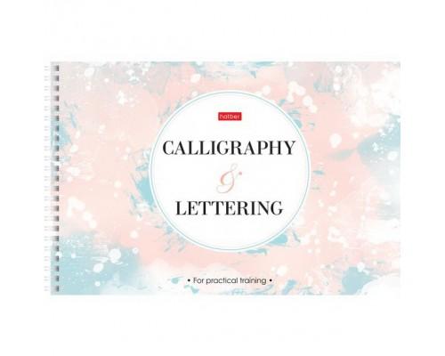 Тетрадь 48 листов на спирали Прописей для Каллиграфии и Леттеринга Calligraphy@Lettering-
