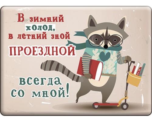 Футляр для проездного билета В зимний холод: