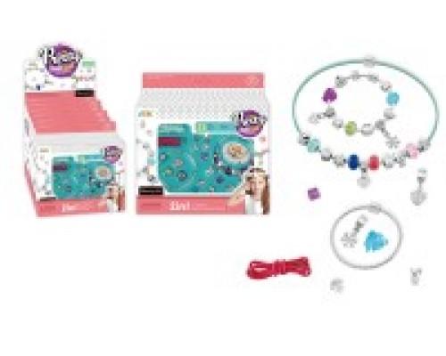 Игровой набор для создания украшений для девочек Браслет шарм и подвеска