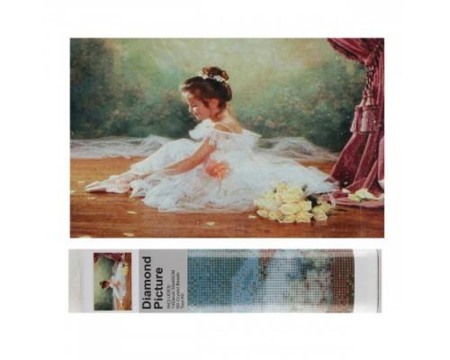 Алмазная мозаика 25*35см КОКОС Балерина полная выкладка холст без подрамника 200988